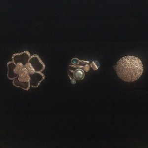 Set of 3 beautiful Lia Sophia rings